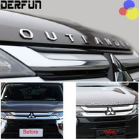 Wholesale Metal Letter Sticker 3d - FIT For Mitsubishi Outlander 2013 - 2016 Stainless Steel SLIM Outlander Wording 3D Letter Sticker Trim Emblem