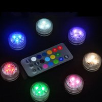 Wholesale Free Chinese Lantern - Free shpping Remote Control Submersible Waterproof LED Mini Lights for Chinese Round Paper Lantern Lights Wedding Party Floral Balloons