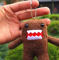 teléfonos lindos para la venta al por mayor-Venta caliente lindo Domo Kun llavero de peluche de juguete muñeca 3.5