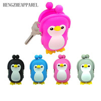 Wholesale kids owl purses - Wholesale- New arrival fashion cartoon candy color baby coin purse bunny penguin owl design kids wallets women changing purse girls bag