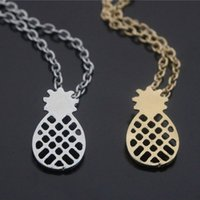 Wholesale Gold Chain Short Choker Necklace - Fashion Necklace Cute Pineapple Necklaces & Pendants Alloy Gold Silver Plated Short Choker Necklace For Friend Gift