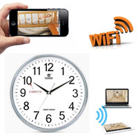 WiFi Wall Clock Câmera escondida Spy IP DVR P2P sem fio Pinhole Cam Video Recording 1280 * 720P HD Motion Detection Camcorder PQ272