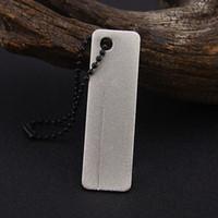 Wholesale Christmas Nail Files - 2017 EDC Pocket Diamond Sharpener Stone Keychain For Knife Fish Hook Finger Nail File Outdoor Camping Tool Christmas Gift