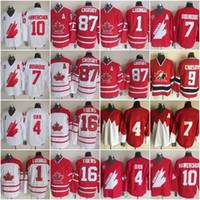 Wholesale Mens 87 - Mens\' Youth Retro #87 SIDNEY CROSBY Jerseys 4 BOBBY ORR 16 JONATHAN TOEWS 1 ROBERTO LUONGO MACINNIS Vintage Throwback Hockey Jerseys