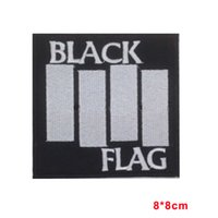 Wholesale Iron Patches Flags - BLACK FLAG Sew Iron On Patch Embroidered Heavy Metal Rock Band Music Logo