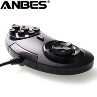 Wholesale- pour SEGA Genesis / MD2 Y1301 USB Gamepad Game Controller 6 boutons SEGA USB Gaming Joystick Holder pour PC MAC Mega Drive Gamepads