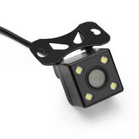 enregistreur de vision nocturne achat en gros de-caméra de vision nocturne 4 LED Sonny HD CCD vue arrière de la caméra inversée pour enregistreurs miroir de Nissan avec câble de 6 m