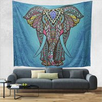 Wholesale Hanging Wash - Elephant Indian Mandala Wall Tapestry Throw Blanket Hippie Wall Hanging Tapestries Beach Towel Yoga Mat Blanket Table Cloth 2 Sizes