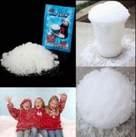 Wholesale Magic Tree Wholesale - Instant Artificial Magic Snow Powder Fluffy Absorbant Christmas Wedding Decorations Fake Snow Powder White Snow 2000pcs OOA2652