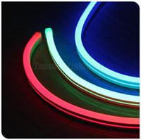 dış aydınlatma toptan satış-50 metre biriktirme kalite şerit led neon şerit aydınlatmaları esnek ultra İnce 11x18mm 220 V SMD halat su geçirmez dış dekorasyon için
