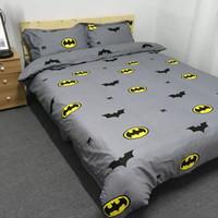Wholesale Batman Twin Bedding - Boys Batman Bedding Set Kids Simple Fashion Duvet Cover Bed Sheet Pillowcase Girls Lace Cotton Twin Queen King Size Beddings