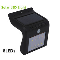 Wholesale Motion Sensor Light Detector Outdoor - Solar Light Waterproof Outdoor 8LED Light Solar Energy Powered Motion Sensor Detector Activated Auto On Off Lamp