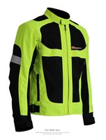 Wholesale Reflective Motorcycle Jacket L - Wholesale- Reflective Rugby Jackets breathable mesh ride jackets racing clothing motorcycle clothing have protection safety jacket 2 model