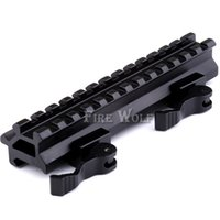 Tactical QD Mount bory-kc04 Double Rail 13 Ângulo do entalhe Quick Detach Picatinny Weaver Rail Scope Mount For 20 mm Rail