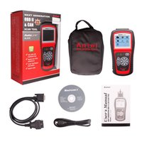 Wholesale Vehicle Color Codes - Autel AutoLink AL519 OBDII EOBD Auto Code Scanner with 10 modes diagnosis TFT color display Work on ALL 1996 and newer vehicles