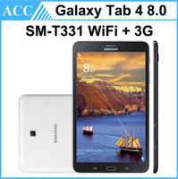 Wholesale Gsm Tablet Pcs - Refurbished Original Galaxy Tab 4 8.0 SM-T331 8.0 inch GSM 3G Unlock Phone Tablet 1.5GB RAM 16GB ROM 3.0MP Camera Android Tablet PC DHL 5pcs