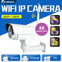 Wholesale Outdoor Ptz Wireless - HD 1080P 960P Mini Bullet Wifi PTZ IP Camera HI3516C+SONY IMX323 4X Zoom Auto Focus 2.8-12mm 2MP Outdoor Wireless IR Onvif