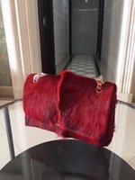 Wholesale Leather Deerskin Bag - luxury 2018 newest fashion bags handbag women famous brand The antelope wool bag lady designer deerskin genuine leather shoulder bag 30cm.