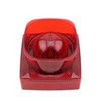 Wholesale Car Sirens - SF-37 Strobe Siren Sound and Light Fire Alarm Waterproof Conventional Strobe Sounder Red Flash Light and Horn for car buildings AT