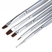 Wholesale Cheap Paint Brushes Wholesale - Wholesale- Toopoot 2017 Professional 5pcs UV Gel Acrylic Nail Art Brush Set Art Builder Painting Pen Design Nail Makeup Tools Natural Cheap
