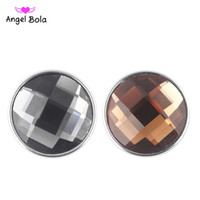 Wholesale Snap Ring Jewelry Making - Solid color glass buttons Snap button angel bola Jewelry Jewelry good quality 50pcs  lot jewelry making DIY NOOSA Bulk