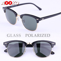 Wholesale AOOKO Sunglasses Glass Polarized Sunglasses New Hinges Master Men Sun Glasses Women Semi Rimless Retro UV Protection Sunglass mm mm