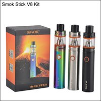 Высокое качество Smok Stick V8 Kit 3000mAh Stick mod Battery 5ml top Заполнение TFV8 Big Baby Tank VAPE Pen Cloud Beast E cig