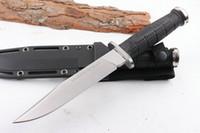 cuchillas de acero de hoja fija d2 al por mayor-2017 Nuevo Acero Frío 39LSFD Leatherneck SF Cuchillo de Supervivencia Fijo D2 Hoja ABS Mango Cuchillo de Caza Táctico K Funda