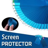 şok önleyici ekran koruyucu film toptan satış-Nano Anti-Şok Yumuşak Ekran Koruyucu Patlama Koruyucu Film Guard iphone XS Max XR X 8 7 6 Artı Samsung Galaxy Not 9 5 S9 S8 Huawei