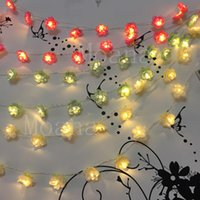Atacado - 4Colors Moda Led Holiday Iluminação 4m Cloth Flower Fairy Bateria String Lights Wedding Garden Party Decoração do Dia dos Namorados