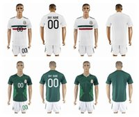 Wholesale Jersey Wholesale Thailand - 2017 18 Mexico Soccer Jerseys With Short CHICHARITO Home Green Soccer Set G.DOS SANTOS R.MARQUEZ thailand quality Mexico soccer Jersey