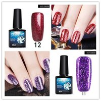 Wholesale Dimond Quality - 2017 12PCS lot Fashionable Top Quality Soak off 3D Dimond Glitter Nail Gel Polish LED UV Gel Polish Nail Art Manicare Star & Mood Nail Gel