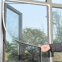 Wholesale Diy Insect Window Net Mesh - Sheer Curtains Window Screen Insect Fly Mosquito DIY Home Door Window Screen Encryption Netting Mesh Sticky Tape Door Window Nets