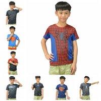 Wholesale Children S Summer Shorts - 15Styles Marvel T-shirts boy Tshirts Superman Batman spider man captain America   t shirt Avengers kids boys clothes children t shirts 100pc