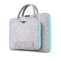 Wholesale Women Laptop Briefcase - 2017 New Felt Universal Laptop Bag Notebook Case Briefcase Handlebag Pouch For Macbook Air Pro Retina Men Women