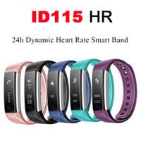 affichage de bracelet bluetooth achat en gros de-Sports Smart Band Bluetooth Montre Veryfit ID115 HR Moniteur de Fréquence Cardiaque Fitness Tracker Affichage OLED Podomètre Bracelet pour iPhone Android