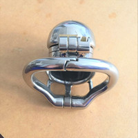 Wholesale Metal Cock Rings Chastity - 2017 Double Lock Design Stainless Steel Chastity Belt Male Chastity Device Metal Penis Lock Chastity Cock Cage Ring Sex Toys For Men