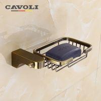 Wholesale Nickel Bronze - Cavoli Aluminum Soap Dishes Bronze Brand Bathroom Accessories dish soap holder #51105