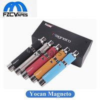 Wholesale Authentic Tool Wholesalers - Authentic Yocan Magneto Wax Kit 1100mAh Portable Wax Vaporizer E Cigarette Dab Tool with Silicon Bar and Magnetic Coil