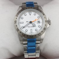 Wholesale White Dial Automatic Watch - High quality Luxury Mens Watch EXP 16570 Luxury White Dial Men's Sports Wrist watch Men Watches Stainless steel Folding clasp
