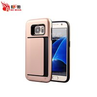 Wholesale Cheap Folders - Card Folder Clip Design Sleek Edges 2in1 Cheap Phone Covers For Samsung S7 S7edge S8 S8plus Note8 Wholesale Cell Phone Cases