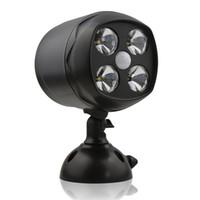 batería led spotlight al por mayor-Proyector LED inalámbrico Sensor de movimiento Lámpara de sensor de luz Resistente a la intemperie Funciona con pilas 600 lúmenes Lámpara de pared para patio de luz para exteriores / interiores