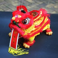 Wholesale lion puppets resale online - China traditional handicrafts Marionette Puppet lion Foshan features gift cm car homecoffee bar decorations