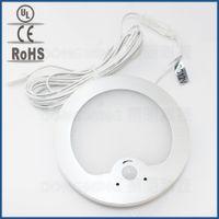 Wholesale Wall Mount Motion Detectors - Wholesale- 3.2W LED PIR infrared Body Motion Sensor lamp 12V cabinet light wall mount nightlight Detector for wardrobe downlight LED panel