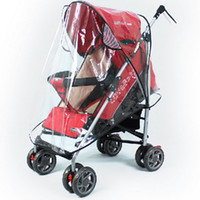 Wholesale Rain Cover Baby - Wholesale- Universal Strollers Pushchairs Baby Carriage Waterproof Dust Rain Cover Windshield TRQ0144