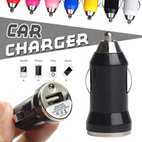 Wholesale Fast Mini Pc - Universal Mini Bullet Car Charger Fast USB Charger Adapter For iPhone X 8 7 Plus 6 6S Samsung S8 Plus S7 S6 Note 8 SmartPhone ipad Tablet PC