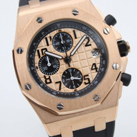 Wholesale Rubber Band Store - Big sell famous store jason007 Luxury Brand watch men Oak Offshore rubber band gold Watch men quartz chronograph watch Mens dive Watches