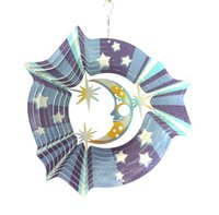 Wholesale Wind Spinners Stainless Steel - Star Moon Stainless Steel Wind Spinner Home Garden Indoor Outdoor Epoxy Coating with Sparkles Powder Laser Cutting Never Rust 12inch