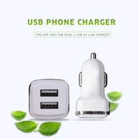 WEWO Car Use Dual 2 USB 2.4A Compact Smart Cell Phone Charger com proteção contra incêndio Fast Mobile Phone Tablet PC