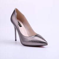 Wholesale Wholesale Lady Stiletto Shoes - Summer Spring Ladies Elegant Dress Pump Pointed Toe Stiletto Shoes Classic Wedding silvery Large Size High Heels Shoes Qulity Wholesale